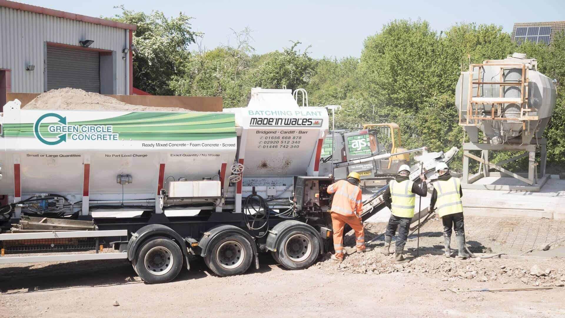 Ready Mix Concrete in South Wales | Green Circle Concrete Ltd